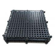 PISO FLEX ECON 33,5 X 33,5 x 1,7 cm PP PRETO KIT 6 PLACAS