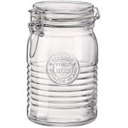 Pote de Vidro Hermético Officina 1 litro  Feito na Itália
