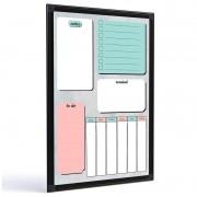 Quadro para planejamento Planner Color 60x40 cm tela colorida R8457
