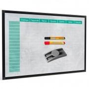 Quadro para planejamento Planner Color 90x60 cm tela colorida R8458 + 2 marcadores + apagador plástico