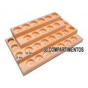 SUPORTE PARA ÓLEOS ESSENCIAIS DE MADEIRA PARA 30 FRASCOS