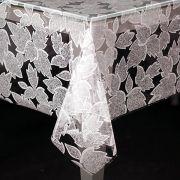 Toalha de Mesa Plástica 1,38X2,20 Metros Diamante Estampa FOLHAS