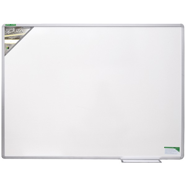 Quadro Branco Luxo 90x60 cm Melamínico Fórmica com Moldura de Alumínio Luxo 5203