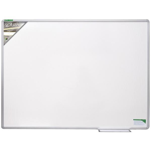 Quadro Branco Melamínico (Fórmica) 120x90 cm com Moldura de Alumínio Luxo - Souza