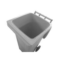 Lixeira Carrinho Coletor de Lixo 240 Litros Sem Pedal BRANCA