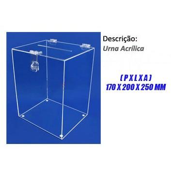 Urna Acrílica Modelo Cubo Médio