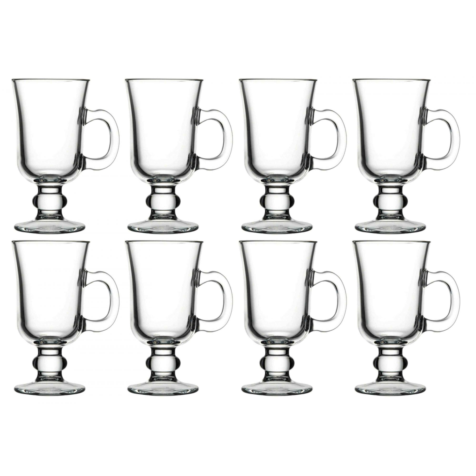8 TAÇA CANECA IRISH COFFEE 230 ML Pasabahçe