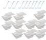 CONJ 10 CUBAS Gastronômicas Em POLICARBONATO GN 1/6X65 mm 1 Litro + 10 TAMPAS 1/6 Em POLI Com ABERTURA + 10 CONCHAS Em POLI Originais CAMBRO