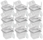 CONJ 10 CUBAS Gastronômicas Em POLICARBONATO GN 1/6X100 mm 1,5 Litros + 10 TAMPAS 1/6 Em POLI Com FLIP, DOBRADIÇA e ABERTURA + 10 COLHER Em POLI 20,5 cm Originais CAMBRO