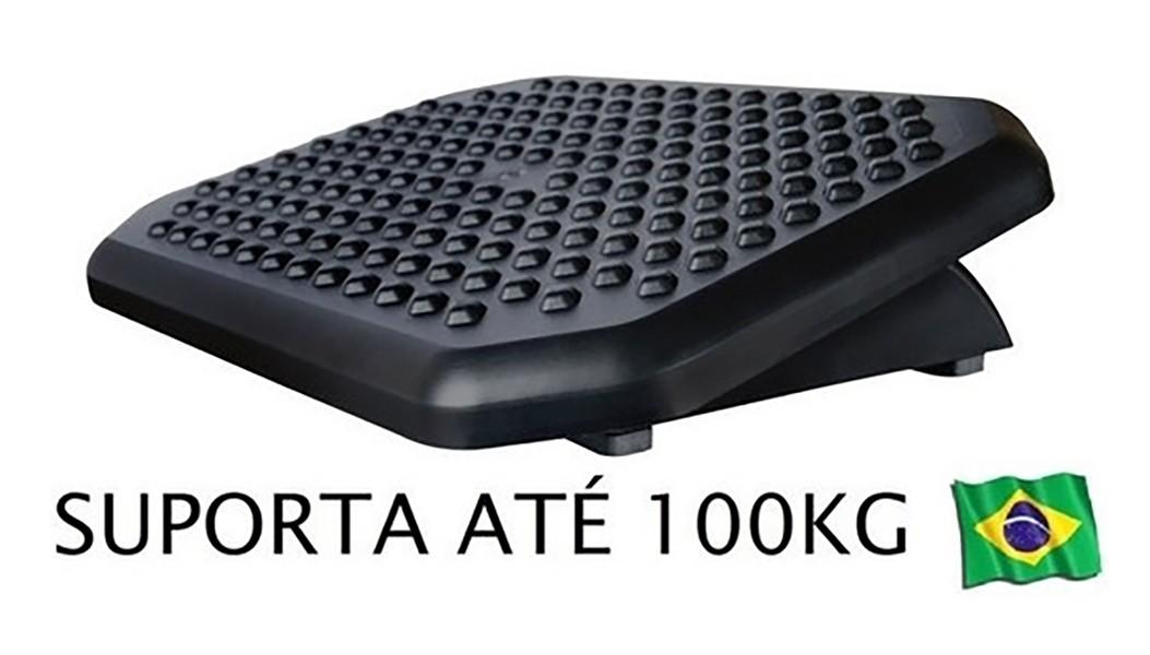 Apoio Ergonômico Para os Pés - Suporta Até 100 Kg - Preto 850 ACRINIL