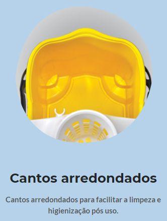 Balde Espremedor Para MOP Úmido DOBLÔ 20 Litros B20FVM Flex VERMELHO + MOP Úmido Completo (Cabo + Garra + Refil) BRALIMPIA