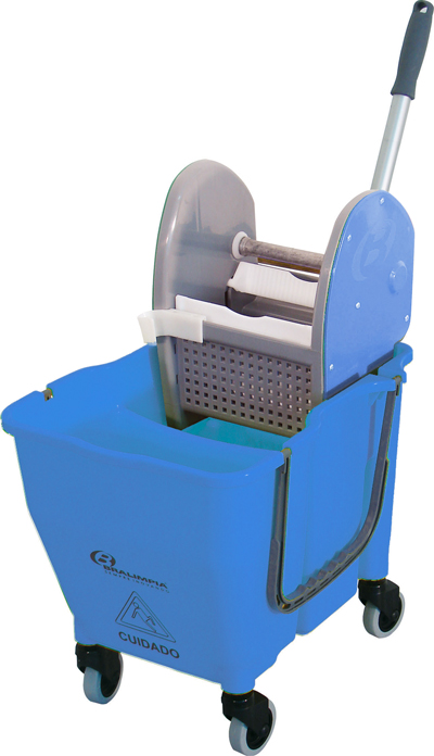 Balde Espremedor para MOP Úmido Doblô 30 Litros Azul NY109 Bralimpia