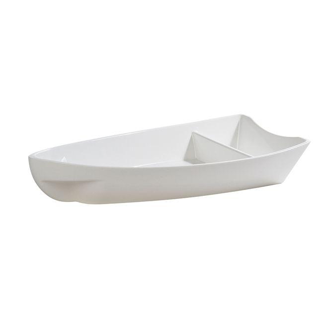 Barca Barco Sushi Açai Sorvete Policarbonato Peq BRANCO 27x14x4 600 ml