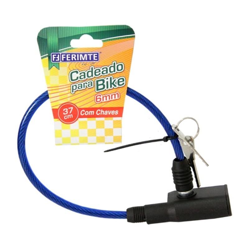 Cadeado para bicicleta 06mm x 370mm com Chave CA3980