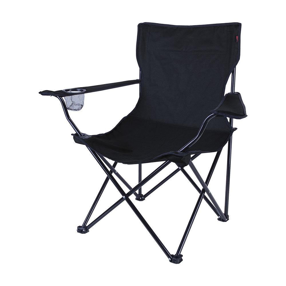 Cadeira Dobrável Alvorada Camping Pesca + Bolsa Nautika Preta