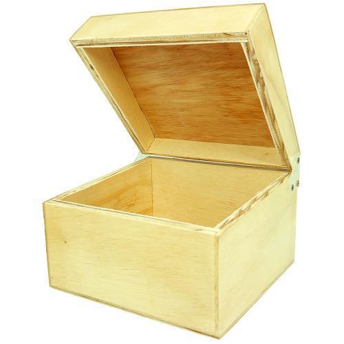 Caixa Fichário em Madeira Pinus Luxo - 4x6 - 17x18x13 cm