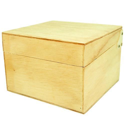 Caixa Fichário em Madeira Pinus Luxo - 7x10 - 27x28x21 cm Referência 3545