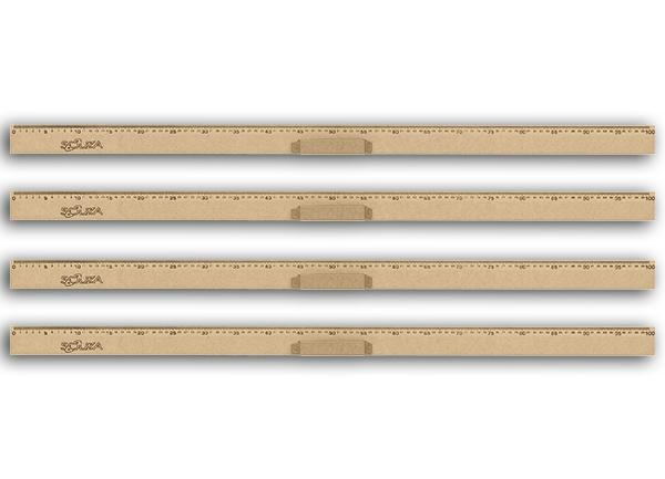 Conj 24 Régua de Madeira Em MDF Natural 100 cm Com Pegador Referência 1517 Souza