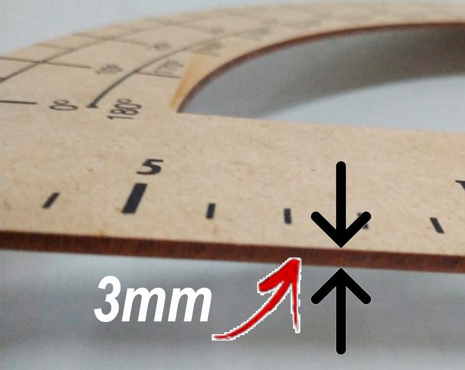 Conj 2 Kit Geométrico do Professor Mdf/Pinus SEM Régua e Com Compasso Para Quadro Branco 40 cm