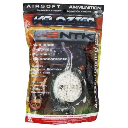 Conj 2 pctes Esferas BB Para Airsoft Nautika Velozter Munição 0,25g com 4000