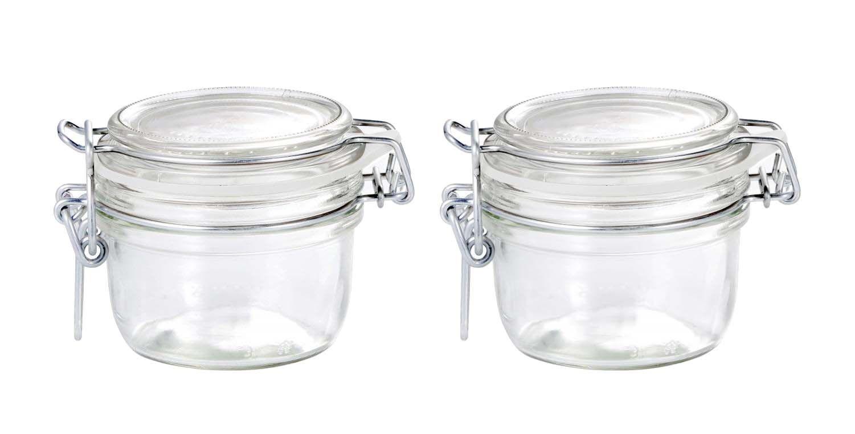 Conj 2 Pote de vidro hermético Fido Terrina 125 ml