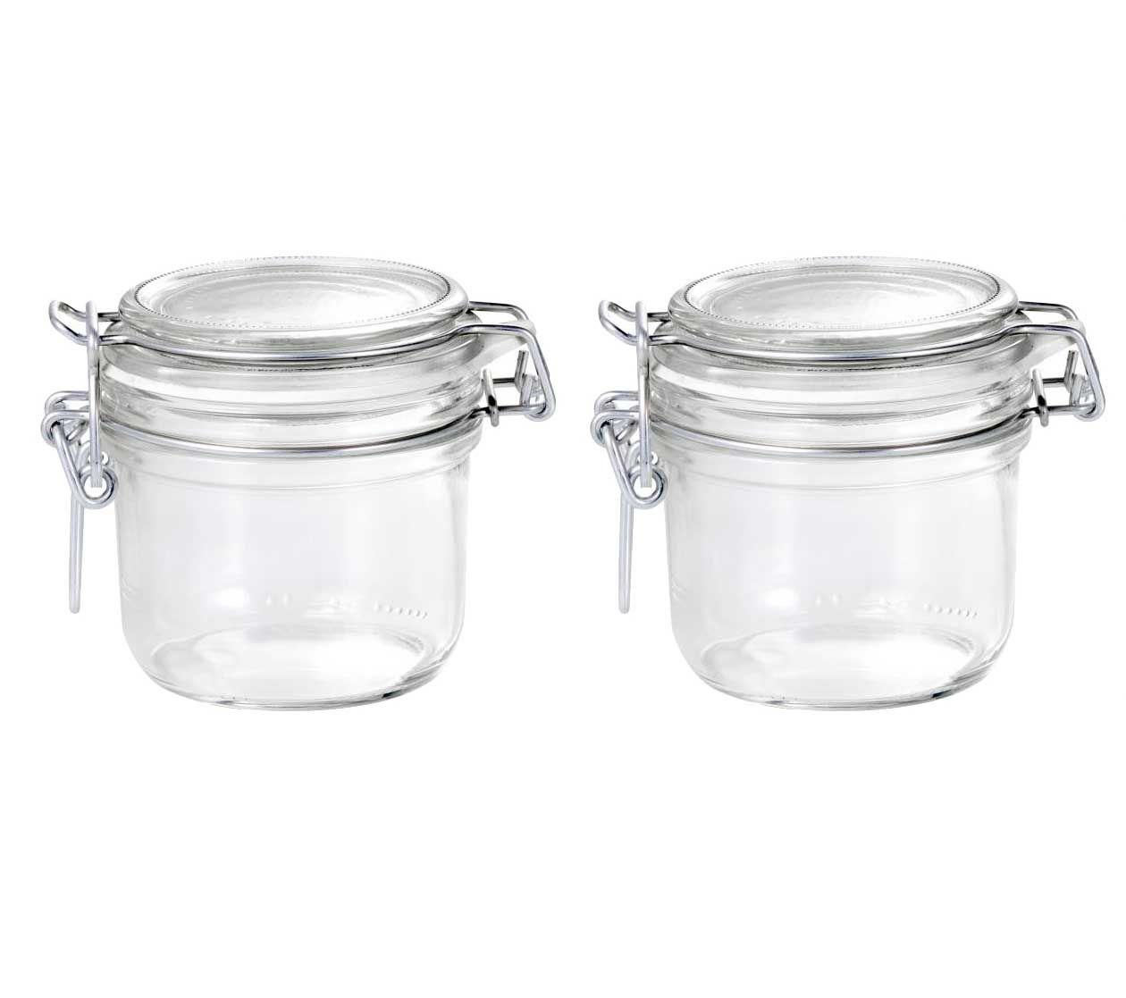Conj 2 Pote de vidro hermético Fido Terrina 200 ml Ø 83 mm