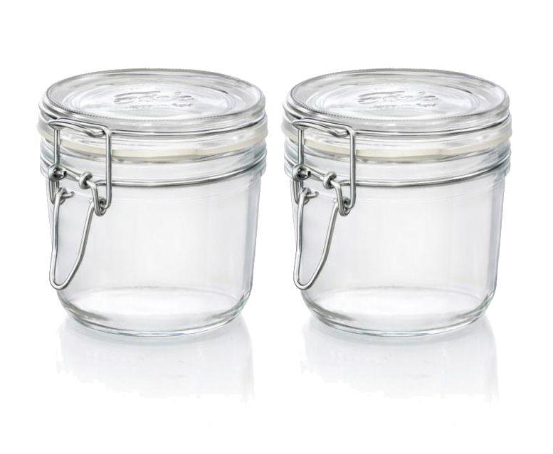 CONJ 2 Pote de vidro hermético Fido Terrina 350 ml Ø 98,4 mm