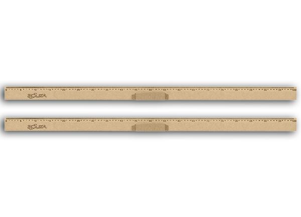 Conj 2 Régua de Madeira MDF Natural 100 cm Com Pegador Referência 1517 Souza
