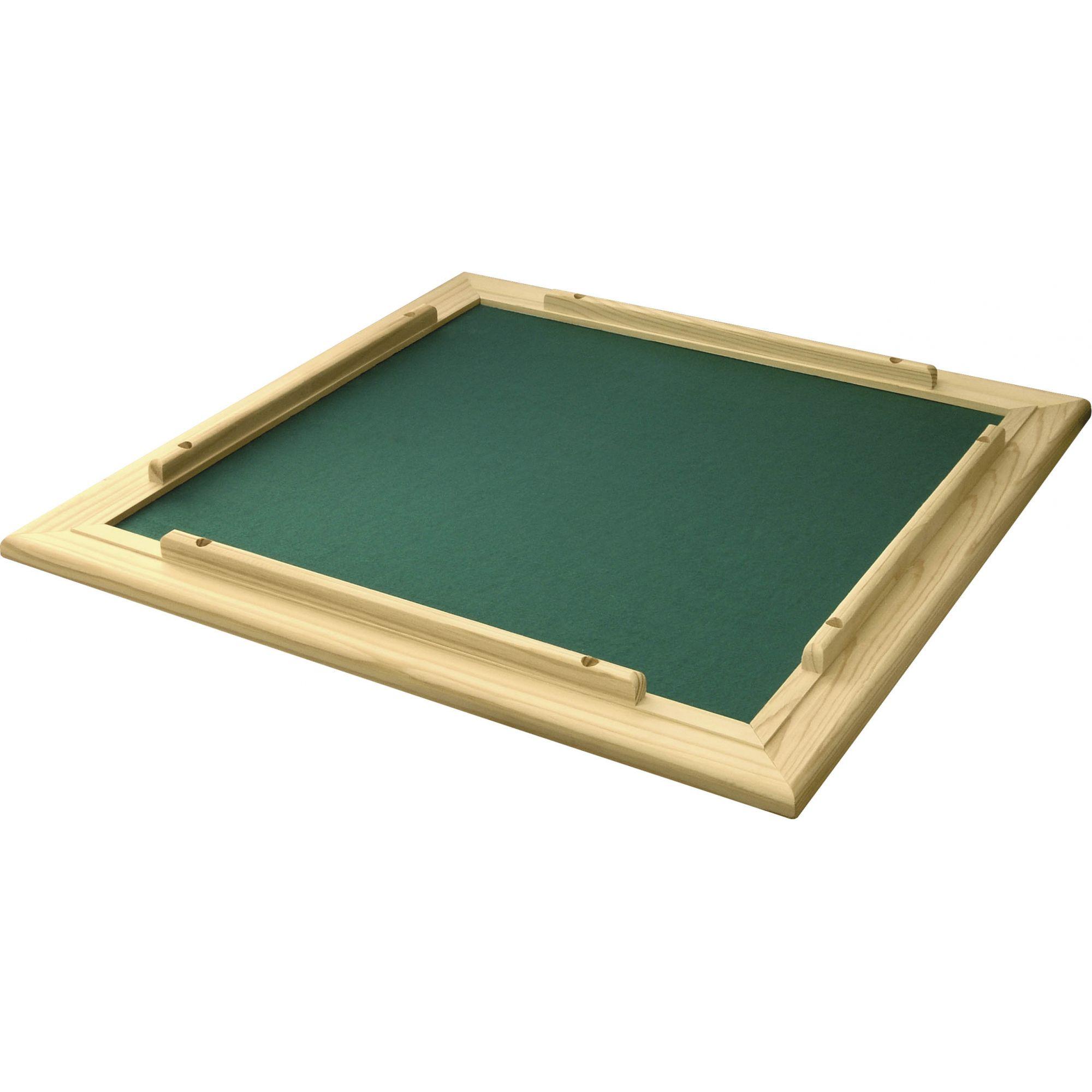CONJ 2 Tabuleiros de Mesa Para DOMINÓ Com Feltro Verde 66x66 cm 7009