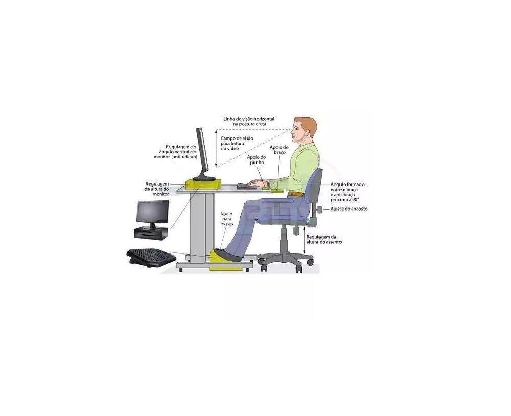 Conj 3 Suporte Para Monitor de Mesa em MDF Vermelho Com 2 Gavetas Brancas Souza Referência 3360