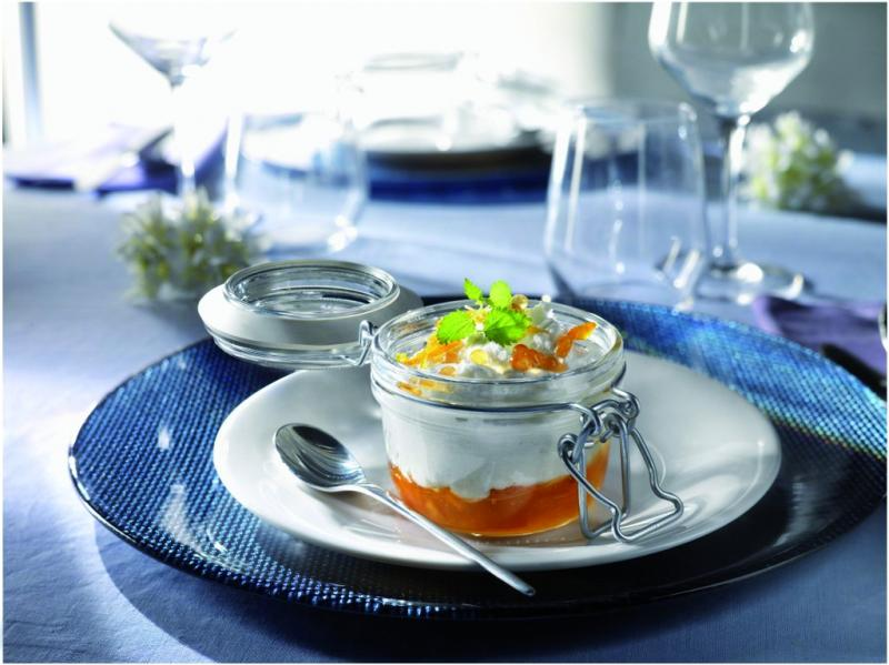 Conj 5 Pote de vidro hermético Fido Terrina 125 ml