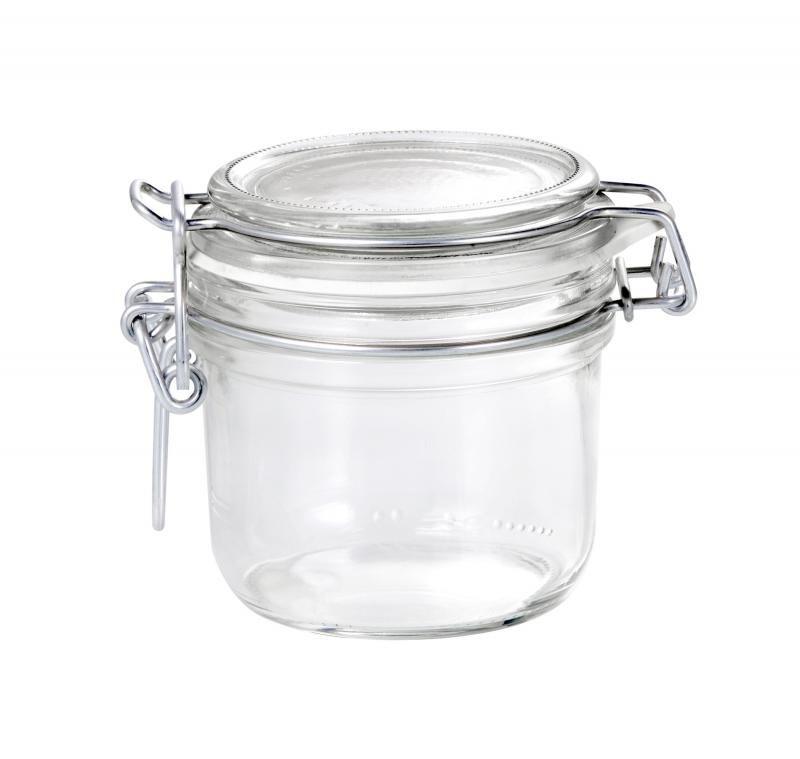Conj 5 Pote de vidro hermético Fido Terrina 200 ml Ø 83 mm