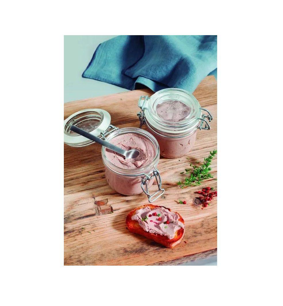 Conj 8 Pote de vidro hermético Fido Terrina 200 ml Ø 83 mm