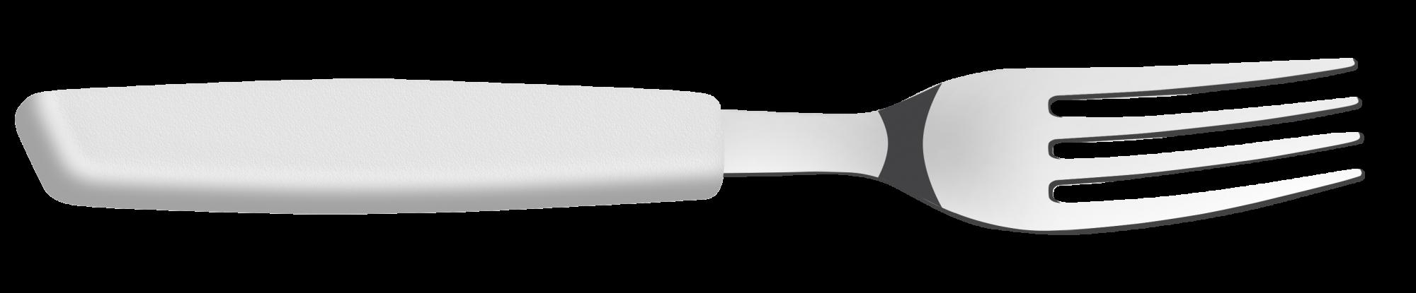 CONJUNTO Garfo Mesa Gpurmet Mix Plástico BRANCO - 12 Unidades
