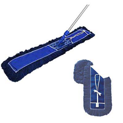 CONJUNTO Mop Pó PROFI Bralimpia completo 120 cm Armação cabo retrátil e refil + 1 REFIL PÓ