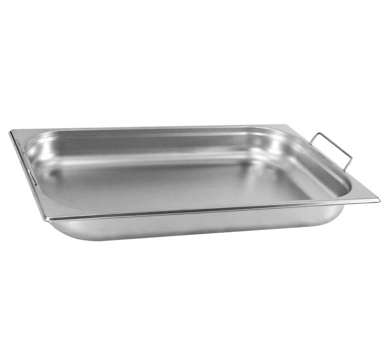 Cuba Gastronômica Inox GN 1/1x30 mm COM alça