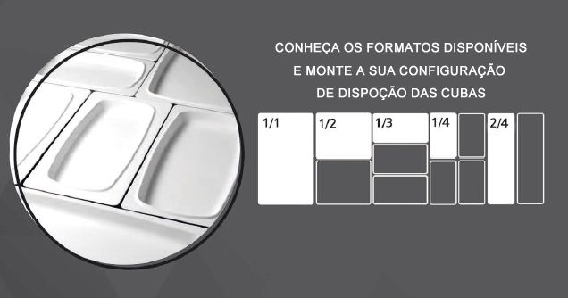CUBA TRAVESSA GN 1/1 53,0X32,5X3,0 CM MELAMINA BRANCA