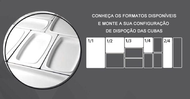 Cuba TRAVESSA GN 1/3 32,5X17,6X3 CM Em MELAMINA BRANCA