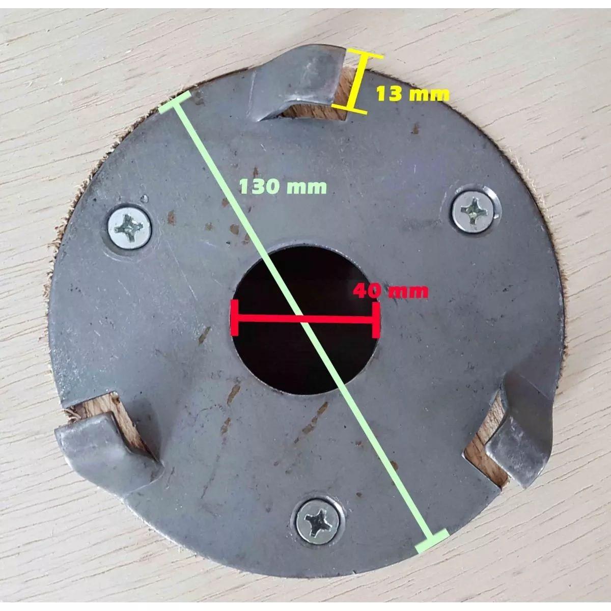 Escova de AÇO 510 mm COM Flange Para Enceradeira CLEANER, Allclean, Bandeirantes Entre Outras