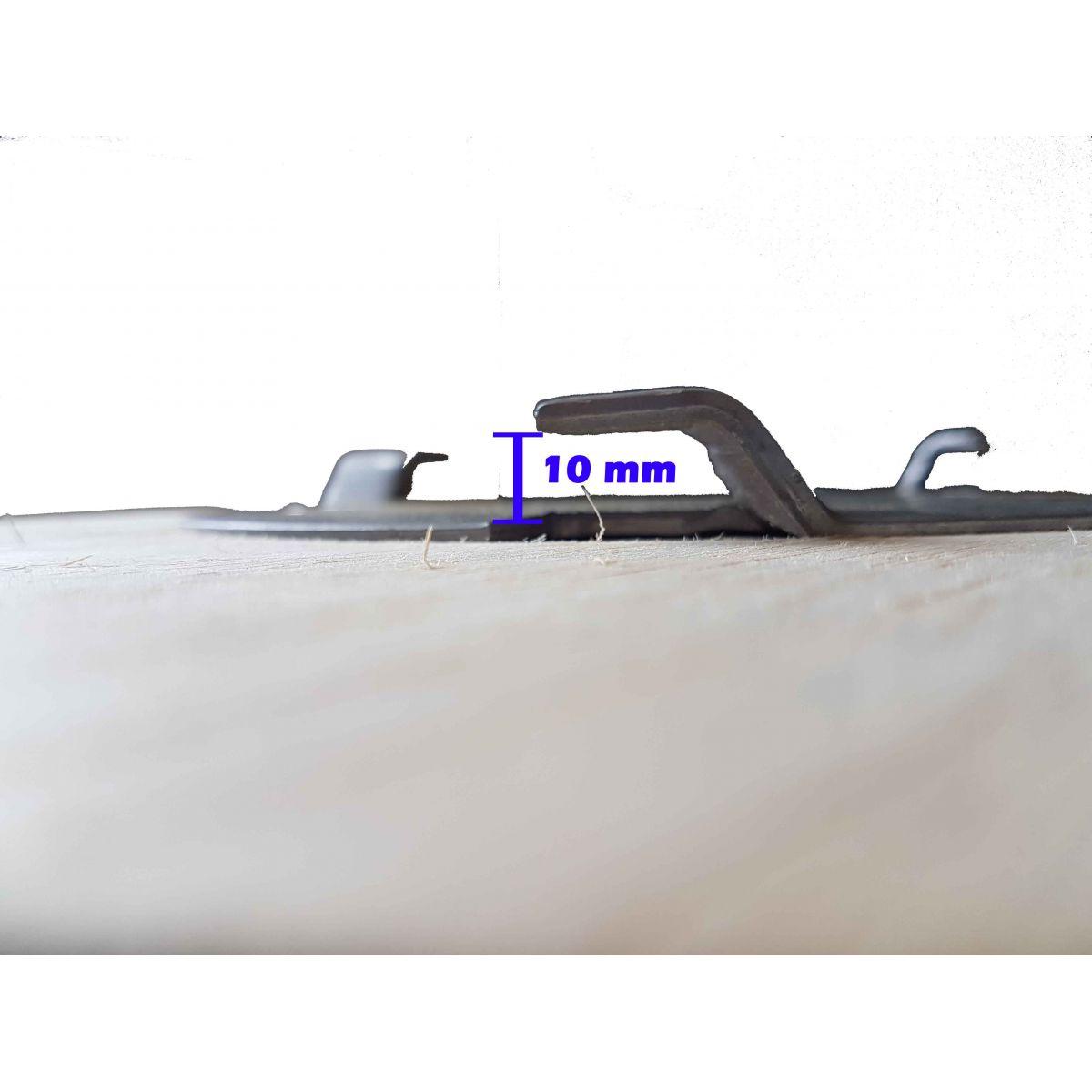 Escova de PELO 410 mm COM Flange Para Enceradeira CLEANER. Allclean e Bandeirantes Entre Outras