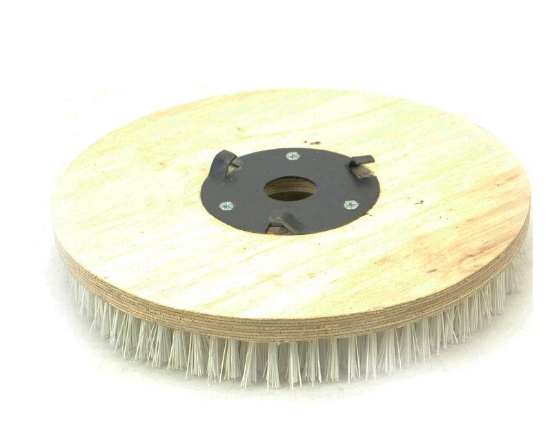 Escova NYLON 350 mm COM Flange Para Enceradeiras CLEANER. Allclean e Bandeirantes Entre Outras