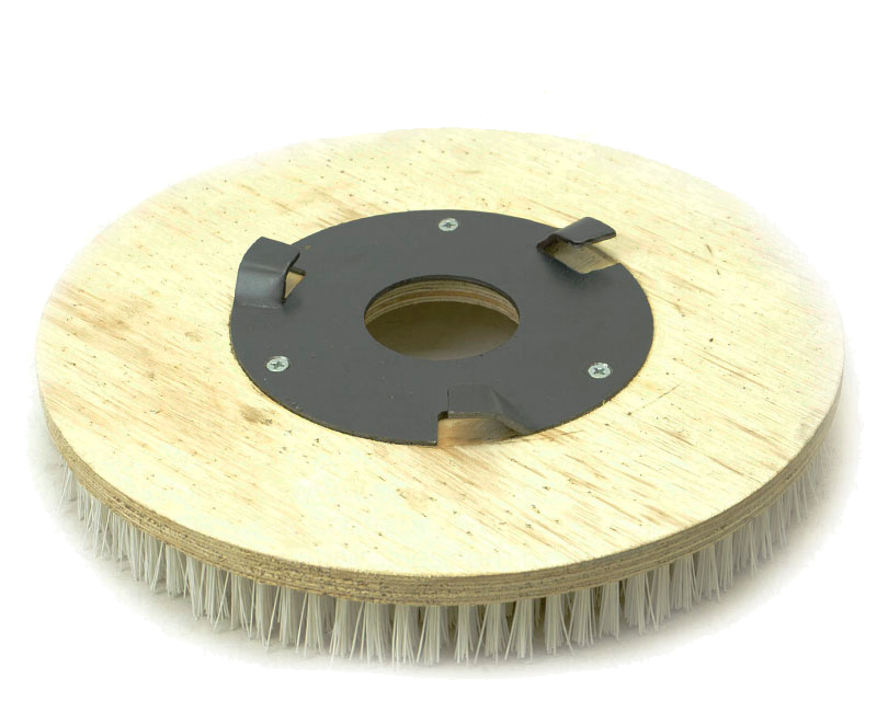 Escova NYLON 410 mm COM Flange Para Enceradeiras CLEANER. Allclean e Bandeirantes Entre Outras