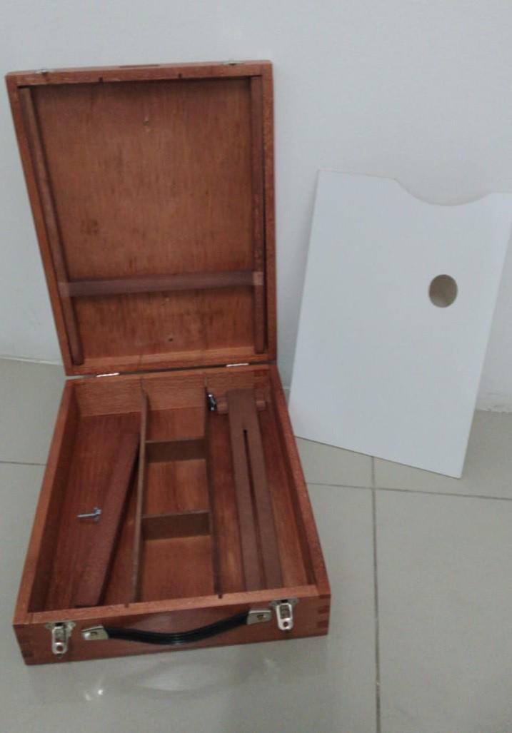 Estojo Cavalete de Pintura Da Vinci Pinus cor Mogno - Souza Referência 4215