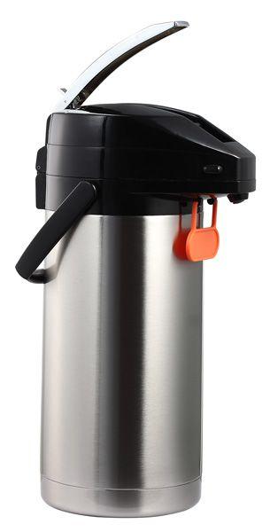 Garrafa Térmica aço Inox com Alavanca e Plaqueta - 3 Litros - Termopro