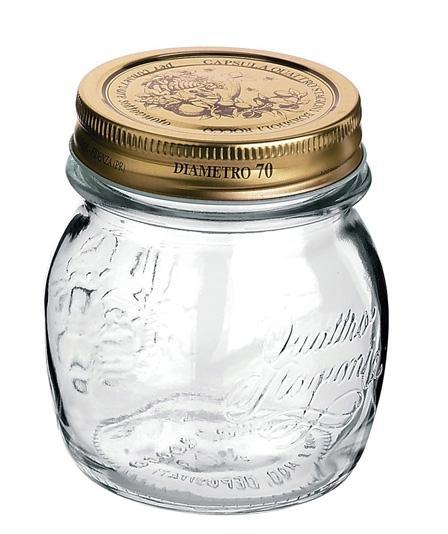 Conj 10 Pote de Vidro Quattro Stagioni 250 ml  Para Conservas e Afins COM Tampa Original
