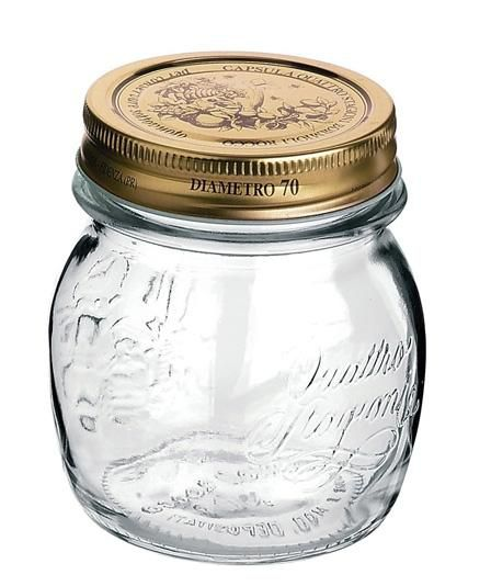 Conj 3 Potes de Vidro Quattro Stagioni 250 ml  Para Conservas e Afins COM Tampa Original