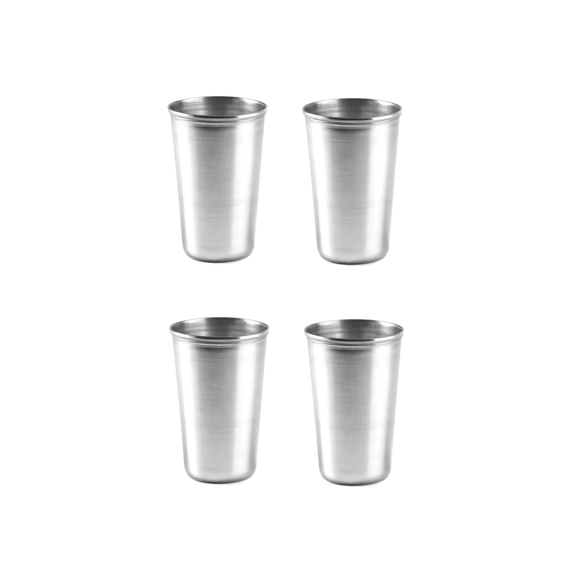 Kit Com 4 Copos Inox Grande 540 ml Gourmet Mix