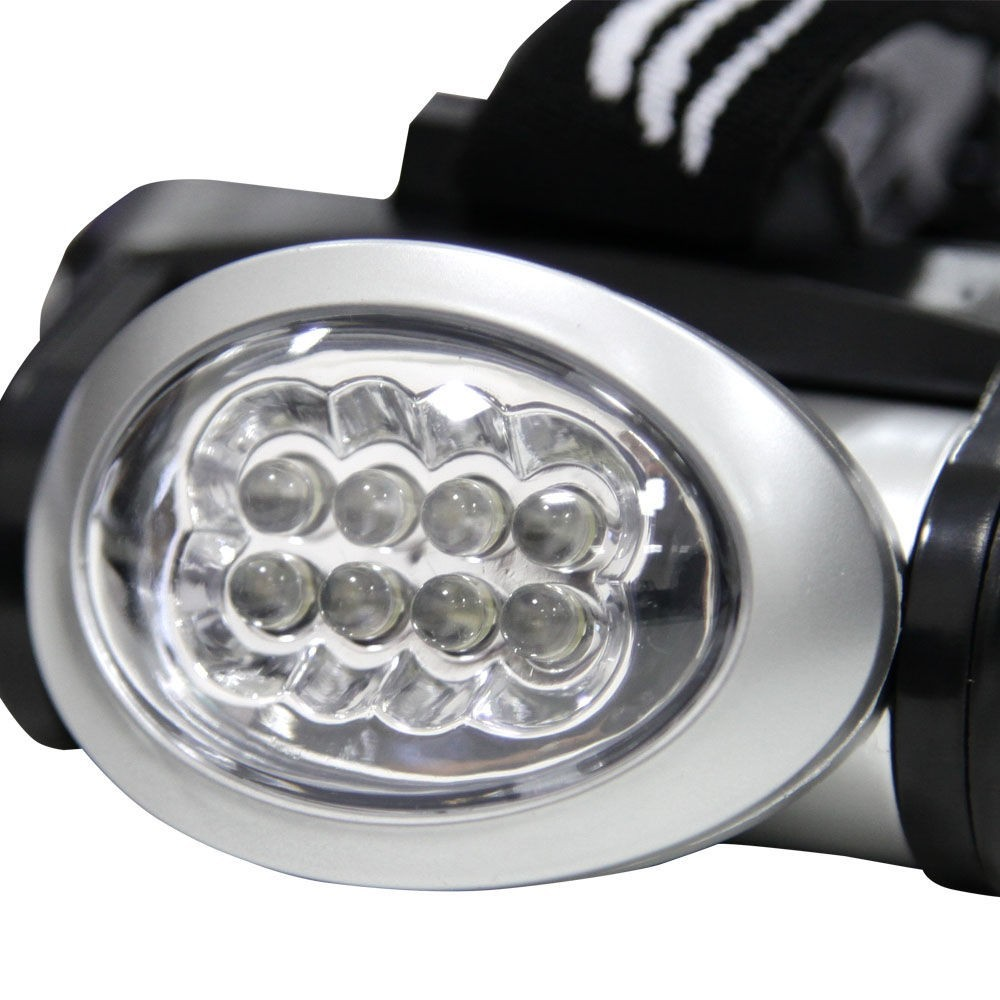Lanterna Para Cabeça Capacete Turbo 8 Led Forte Nautika