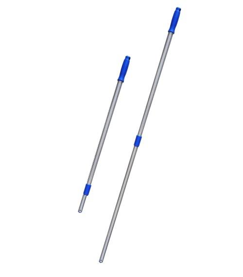 MOP PÓ Euro Completo 60 cm ( Armação + Cabo 2 Estágios Retrátil e Telescópico 1,40 Metros + REFIL Pó 60 cm ) BRALIMPIA