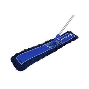 Mop Pó PROFI Bralimpia completo 120 cm Armação cabo retrátil e refil